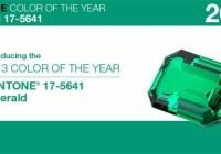 Pantone - Verde Smeraldo - colore dell'anno 2013