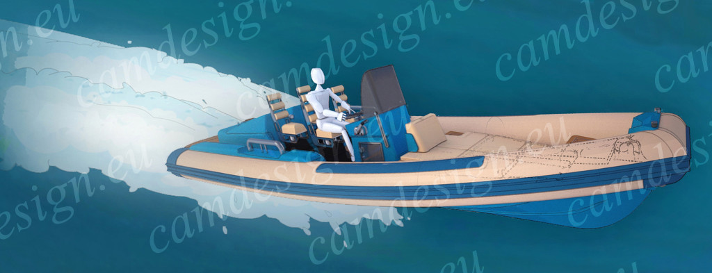Immagine artistica del battello in navigazione