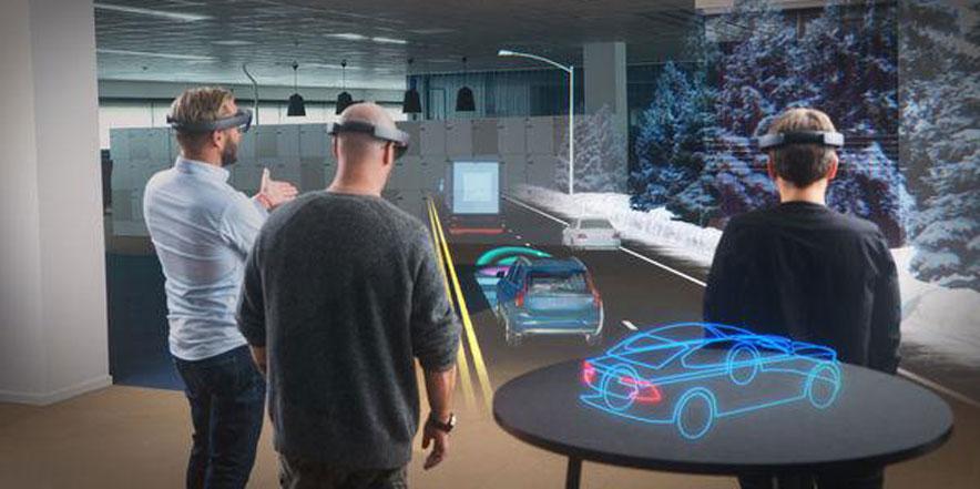 Design team revision using VR Googles