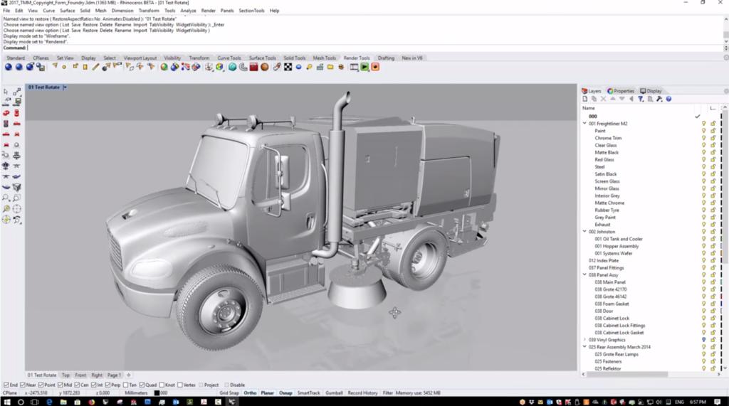 Unimog, modello 3D