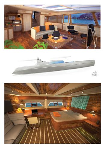 Interni dello yacht Plan-B
